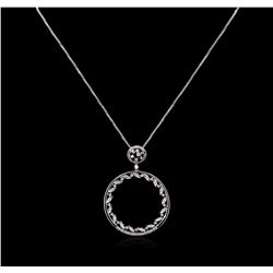 1.11 ctw Diamond Pendant With Chain - 14KT White Gold