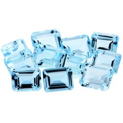 51.59 ctw Emerald Cut Natural Blue Topaz Parcel