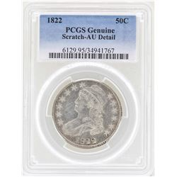 1822 Capped Bust Half Dollar Coin PCGS Genuine AU Details