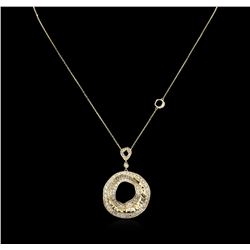 2.44 ctw Diamond Pendant With Chain - 14KT Yellow Gold