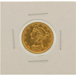 1894 $5 Liberty Head Half Eagle Gold Coin