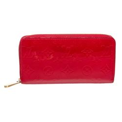Louis Vuitton Red Vernis Monogram Zippy Wallet