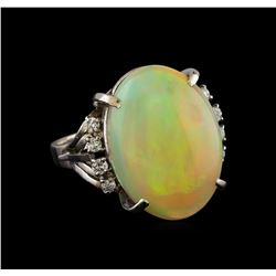 8.26 ctw Opal and Diamond Ring - Platinum