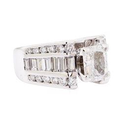 2.57 ctw Diamond Ring - 14KT White Gold