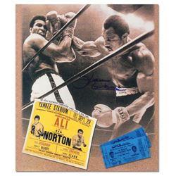 Ken Norton Photo Ticket Signed Photo by Norton & Ali