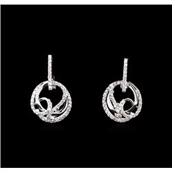 0.50 ctw Diamond Earrings - 14KT White Gold