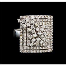 14KT White Gold 0.96 ctw Diamond Ring