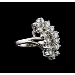 1.95 ctw Diamond Ring - 14KT White Gold