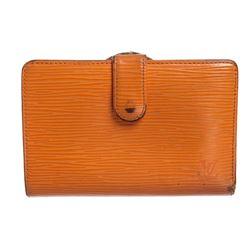 Louis Vuitton Orange Epi Leather French Purse Wallet