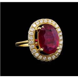 14KT Yellow Gold 3.89 ctw Ruby and Diamond Ring