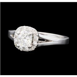 0.93 ctw Diamond Ring - 14KT White Gold