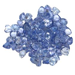 17.13 ctw Round Mixed Tanzanite Parcel