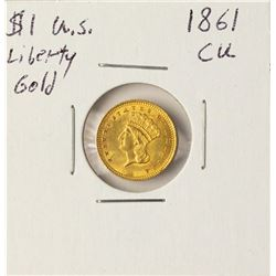 1861 $1 Liberty Head Gold Coin