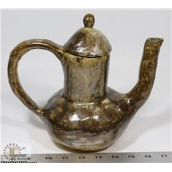 "17) CERAMIC TEAPOT SIGNED ""LUE"" AT BASE FROM MARY"