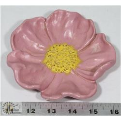 "64) MARY BORGSTROM 1972 WILD ROSE PINK GLAZE, 6""."