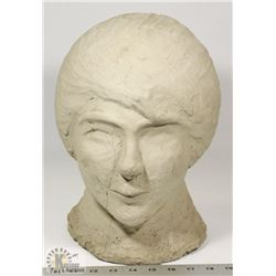 71) MARY BORGSTROM SCULPTED HEAD OF KARIN (MARY'S
