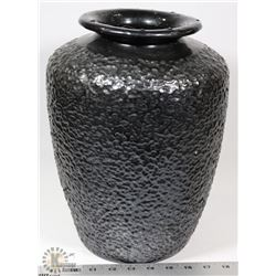 23) BOTTOMLESS BLACK VASE ATTRIBUTED TO MARY