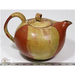 91) CERAMIC GLAZED TEA POT FROM MARY BORGSTROM'S