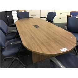 CHESTNUT 8' RACETRACK BOARDROOM TABLE