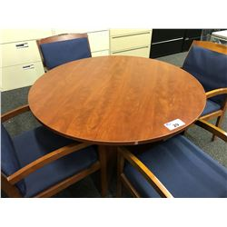 CHERRY 42'' ROUND CONFERENCE TABLE