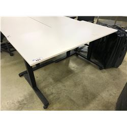 WHITE 5' HEIGHT ADJUSTABLE MOBILE MULTI-TABLE