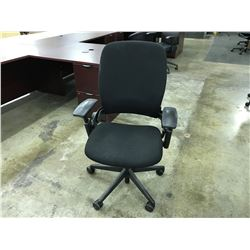 BLACK STEELCASE LEAP FULLY ADJUSTABLE TASK CHAIR
