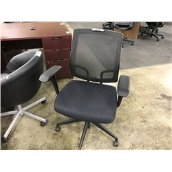 BLACK MESH BACK FULLY ADJUSTABLE TASK CHAIR, S2