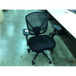 BLACK MESH BACK FULLY ADJUSTABLE TASK CHAIR, S3