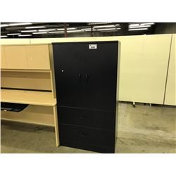 NAVY BLUE 6' DOUBLE DOOR 2 DRAWER LATERAL FILE CABINET