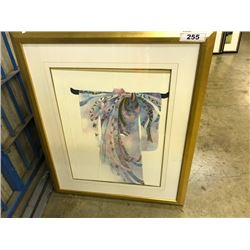 12 ASSORTED FRAMED OFFICE ART PIECES, SOME MULTIPLES