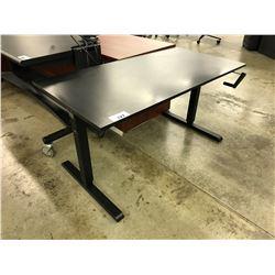 BLACK 5' HEIGHT ADJUSTABLE MULTI-TABLE