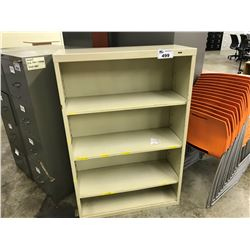 BEIGE 4 SHELF 48'' BOOK CASE