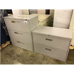 LARGE LOT OF ASSORTED FILE CABINETS MUST TAKE ALL