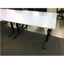 WHITE 5' HEIGHT ADJUSTABLE MULTI-TABLE