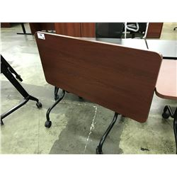 CHERRY 4' HERMAN MILLER MOBILE COLLAPSIBLE TABLE