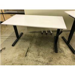 WHITE 5' HEIGHT ADJUSTABLE MULTI-TABLE