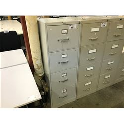 HON GREY 4 DRAWER LEGAL SIZE VERTICAL FILE CABINET