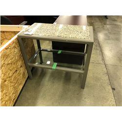 GREY GRANITE DISPLAY TABLE