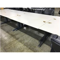 STEELCASE ELLIPSE WHITE PROGRAMMERS TABLE
