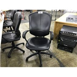 GLOBAL SUPRA BLACK LEATHER HIGH BACK EXECUTIVE CHAIR