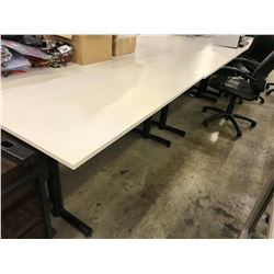 WHITE 5' COMPUTER TABLES