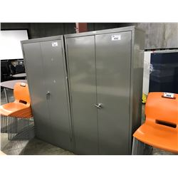 SUNAR GREY 6' DOUBLE DOOR STORAGE CABINET