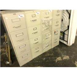 BEIGE 4 DRAWER LETTER SIZE VERTICAL FILE CABINET