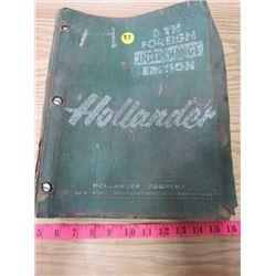 HOLLANDER 8TH FOREIGN INTERCHANGE EDITION