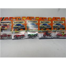 LOT OF 5 MATCHBOX TOYS (VIPER, JEEP, TURBO SKI, ETC…) *N.O.S.*