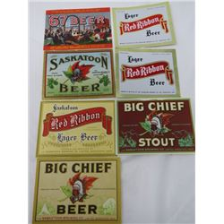 LOT OF CANADIAN BEER LABELS  *SASKATOON*