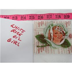 WHITE ROSE OIL GIRL LABELS