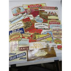 LOT OF LIQUOR LABELS