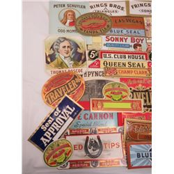 LOT OF CIGAR LABELS