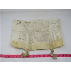 DOCUMENT ON VELLUM LEATHER (1936) *1600S*